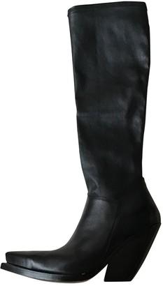 Celine Black Leather Boots