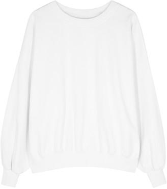 American Vintage Wititi white cotton sweatshirt