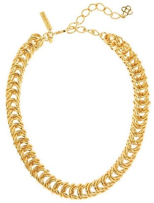 Oscar de la Renta Tubular Braided Goldtone Necklace