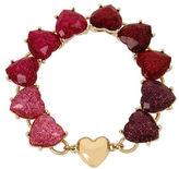 Betsey Johnson Ombre Glitter Heart Magnetic Bracelet