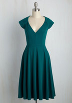 Coco Love Name the Date A-Line Dress in Teal