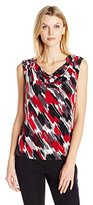 Kasper Women's Printed Ity Cowl Neck Cami
