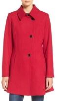 CeCe Women's 'Rose' Asymmetrical Skirted Wool Blend Coat