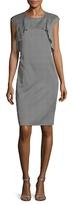 St. John Crepe Simple Dot Printed Sheath Dress