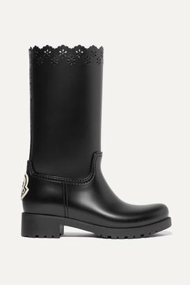 MONCLER GENIUS + Simone Rocha Laser-cut Rubber Boots - Black