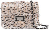 Monique Lhuillier sequinned shoulder bag - women - Satin/Satin Ribbon/Sequin - One Size