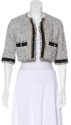 Max & Co. MAX&Co. Open-Front Tweed Jacket