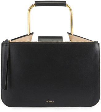 REE PROJECTS Tess Small Leather Pump Top-Handle Bag