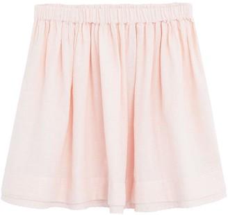 MANGO Girls Broderie Hem Skirt - Light Pink