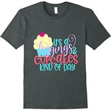 Funny Its A Leggings and Cupcakes Kind of Day Shirt Girly