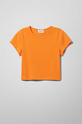 Weekday Glenda Cropped T-shirt - Orange