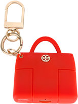 Tory Burch 'Tory' charger keyring - women - Brass/Silicone - One Size