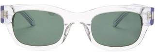 Sun Buddies Lubna Rectangular Acetate Sunglasses - Clear