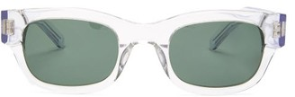Sun Buddies Lubna Rectangular Acetate Sunglasses - Mens - Clear
