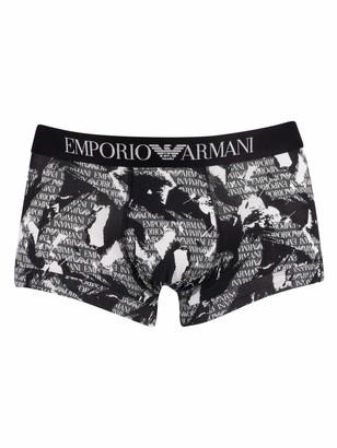 Emporio Armani Men's Seasonal Print Trunk Swim