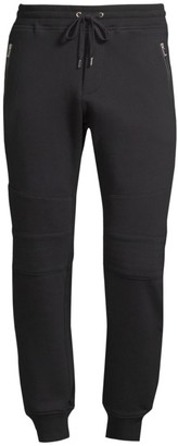 The Kooples Knee-Patch Cotton Sweatpants
