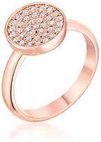 Kate Bissett Cubic Zirconia & Rose Gold Pavé Circle Ring