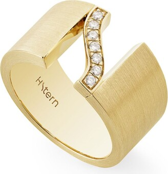 H.Stern Yellow Gold And Diamond Signature Hs Ring