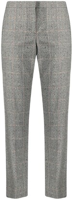 Alexander McQueen Check Print Cropped Trousers