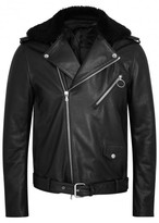 Acne Studios Araki Shearling-trimmed Leather Biker Jacket