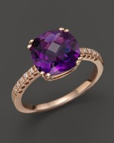 Bloomingdale's Amethyst Cushion Ring with Diamonds in 14K Rose Gold - 100% Exclusive