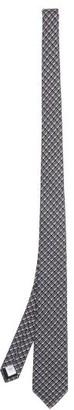 Burberry Manston Mini Tb-logo Silk Tie - Mens - Grey