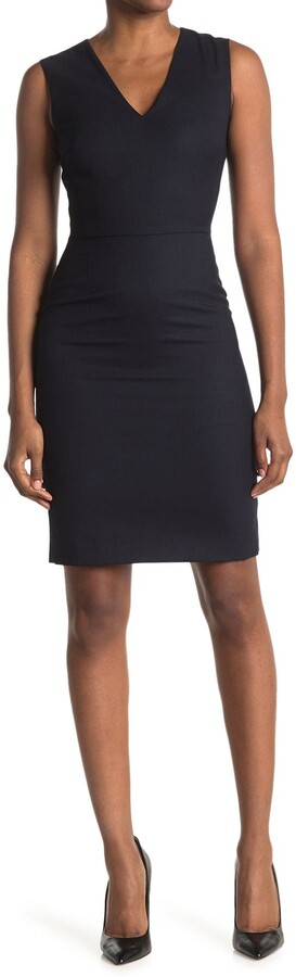 Reiss Hartley Sleeveless Tailored Sheath Dress