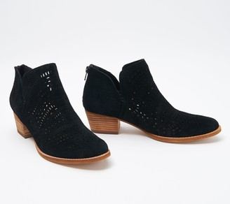 Earth Perforated Leather Ankle Boots - Wyoming Wonder