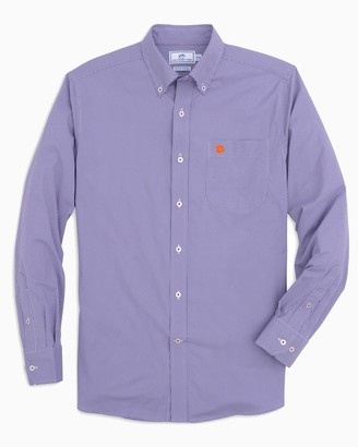 Southern Tide Clemson Tigers Gingham Button Down Shirt