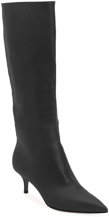 Gianvito Rossi Lamb Leather Mid-Calf Boots