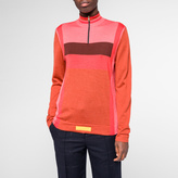 Paul Smith Women's Burnt Orange Colour-Block Wool-Silk Sweater