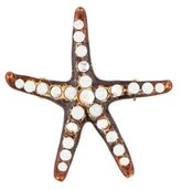 Jay Strongwater Crystal & Enamel Starfish Brooch