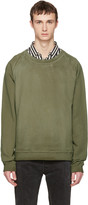 Faith Connexion Green Oversized Washed Pullover