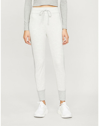 Beyond Yoga Contrast-panel cotton-blend jogging bottoms