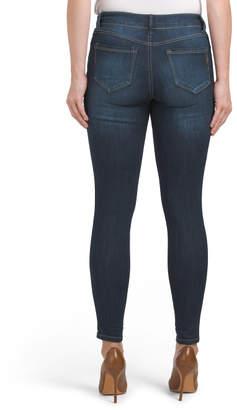 Cargo Pocket Rolled Skinny Jeans