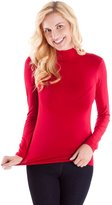 Clothes Effect Ladies Seamless Long Sleeve Turtleneck Top