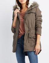 Charlotte Russe Faux Fur-Trim Anorak Jacket