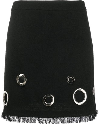 Boutique Moschino Punch-Hole Detail Mini Skirt