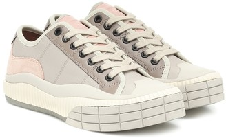 Chloé Clint suede-trimmed sneakers