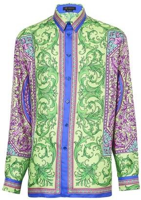 Versace Le Pop Classique print silk shirt