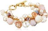"""Carolee Cluster Bracelet, 14"""""""
