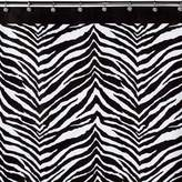 Creative Bath Zebra Fabric Shower Curtain