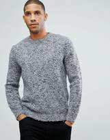 Asos Heavyweight Textured Sweater In Pale Blue