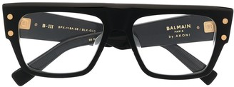 Balmain Eyewear B-III oversized square glasses