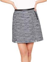 Oasis Spring Tweed Mini Skirt, Multi/Blue