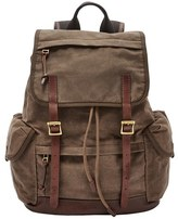 Fossil Men's 'Defender' Canvas Rucksack - Brown