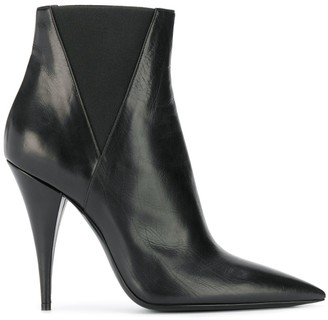 Saint Laurent Kiki pointed toe ankle boots