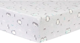Trend Lab Penguin Pals Deluxe Flannel Fitted Crib Sheet