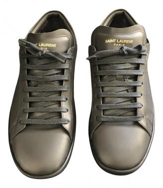 Saint Laurent SL/01 Grey Leather Trainers
