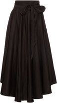 Tibi High-rise cotton maxi skirt